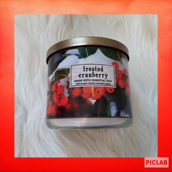Bath & Body Works Other - Bath & Body Works Frosted Cranberry 3-Wick Candle
